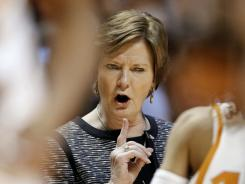 "Pat Summitt, shown during an NCAA tournament game in March, was told by a doctor to retire because of her diagnosis. Her response: ""Do you know who you're dealing with?"""