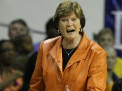 Tennessee coach Pat Summitt instructs her team  during a game against Baylor in  December 2010, in Waco, Texas. Summitt has won 1,071 wins in her career, the most of any coach in NCAA basketball history.