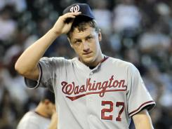 Washington Nationals pitcher Jordan Zimmermann will be shut down in the near future to protect his arm for future seasons.