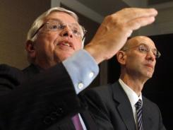NBA Commissioner David Stern, left, and deputy commissioner Adam Silver will meet with officials from the NBA Players Association next week.