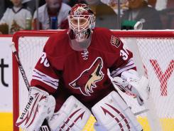 Goaltender Ilya Bryzgalov, with the Coyotes during the 2011 Stanley Cup playoffs, has signed with the Flyers and wants to bring Philadelphia its first hockey title since 1975.