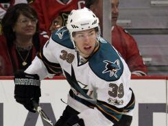 Sharks forward Logan Couture has 37 goals in his first 104 NHL games.