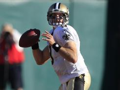 Drew Brees threw for 189 yards and led the Saints to 17 points on the three drives he played.