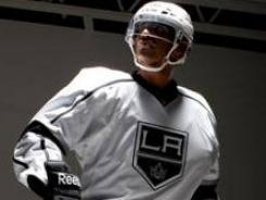 The road uniforms that the Kings will wear this season.