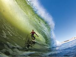 Professional surfer Balaram Stack is shown here surfing in Long Beach, New York, where he will compete against the world's best at the Quiksilver Pro New York beginning Monday.