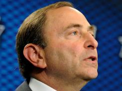 Commissioner Gary Bettman says the NHL and union will examine the league's assistance programs.