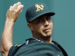 Gio Gonzalez pitched seven scoreless innings for Oakland in a 7-0 win against Cleveland on Thursday.