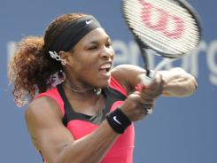 Serena Williams rolls to a fast and easy victory Thursday against Michaella Krajicek in the second round of the U.S. Open.
