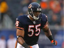 "Lance Briggs says the Bears ""made their decision, now I have to make mine"" and that he's ""100 percent a Bear, until I'm not a Bear anymore."""