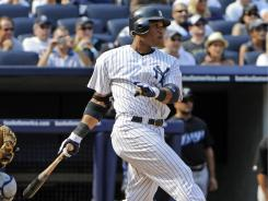 Robinson Cano moved past the 100 RBI mark for the second consecutive season with a two-run double on Saturday against the Blue Jays.