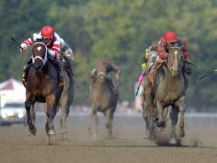 Havre de Grace, left, became the second female to win the Woodward in three years, joining Rachel Alexandra.