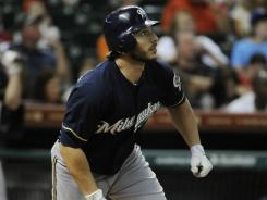 George Kottaras became the first player to hit for the cycle this season and first Brewer since May of last year.