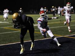 Good Counsel (Olney, Md.) wide receiver Stefon Diggs hauls in the winning touchdown catch in double-overtime of a 24-17 defeat of Manatee (Bradenton, Fla.) Friday night.