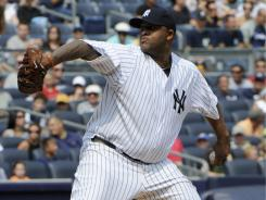 CC Sabathia struck out 10 in seven-plus innings to record his 19th win of the season.