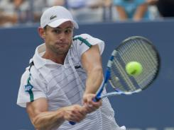 ORG XMIT: USPW-45326 Sep 4, 2011; New York, NY, USA; Andy Roddick (USA) during his match against Julien Benneteau (FRA) on day seven of the 2011 US Open at Billie Jean King Tennis Center. Mandatory Credit: Susan Mullane-US PRESSWIRE ORIG FILE ID:  20110904_ter_au2_334.jpg