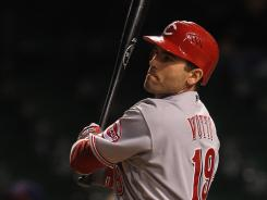 The Cincinnati Reds' Joey Votto hit the game winning RBI in the 13th inning against the Chicago Cubs. The Reds won 4-2.