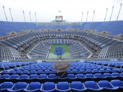 Rain wouldn't go away Tuesday at Arthur Ashe Stadium, and play was canceled for the day at the U.S. Open.
