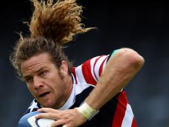 U.S. captain Todd Clever plays during the Churchill Cup Bowl Final match between Russia and the USA at Sixways Stadium on June 18 in Worcester, England.