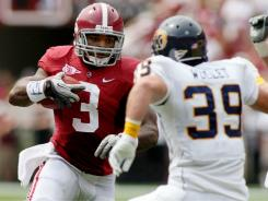 Alabama running back Trent Richardson had 190 combined yards from scrimmage in last year's defeat of Penn State.