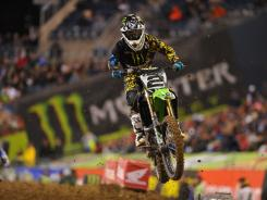 Ryan Villopoto, the 450 Class points leader, competes during an April event at Seattle's Qwest Field.