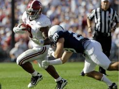 Alabama running back Trent Richardson had more than 100 yards and touchdowns against Penn State.