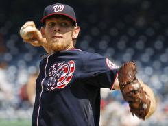 Nationals' Stephen Strasburg pitched three innings in his second MLB start this season.