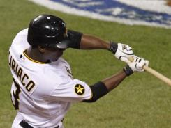 Pedro Ciriaco's key double in the eighth inning helped the Pirates deal a blow to the Cardinals' playoff hopes.