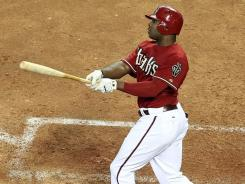 Justin Upton, homering last month, stands out in the NL because of his homers, RBI and steals. He's expected to be among the top vote-getters for the MVP.