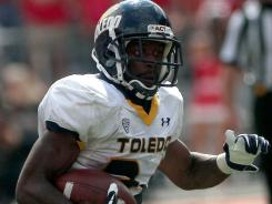 Toledo running back Adonis Thomas had 158 total yards in the loss to Ohio State.