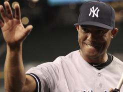 Yankees closer Mariano Rivera earned his 600th save Tuesday, moving within one of Trevor Hoffman's major league record.