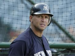 New York Yankees third baseman Alex Rodriguez, hasn't played since Sept. 9 because of a nagging thumb injury.