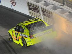 Paul Menard spun out and caused a late caution last week at Richmond.