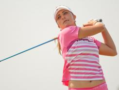 Lexi Thompson is atop the leaderboard by two strokes heading into Sunday's final round of the Navistar LPGA Classic.