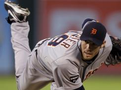 Doug Fister improved to 6-1 since joining the Tigers, helping Detroit to its first AL Central title on Friday night.