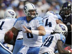 Tennessee Titans quarterback Matt Hasselbeck came through big against the Baltimore Ravens.