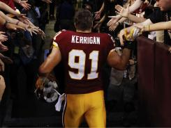 Ryan Kerrigan got high-fives from the fans after helping the Redskins beat the Giants in Week 1.