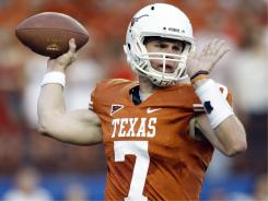 Texas quarterback Garrett Gilbert struggled in his first two games as starter for the Longhorns this season.