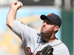 The Tigers' Justin Verlander leads the majors with 24 wins this season.