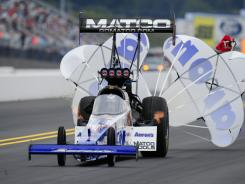 Antron Brown has been blowing them away in NHRA's Top Fuel division. He has won four of the last five events.