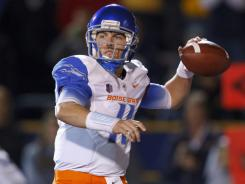 Boise State quarterback Kellen Moore has completed 79% of his passes this season and has an 82-11 touchdown-interception ratio since his sophomore season. His 40-2 record leaves him only five wins away from Colt McCoy's FBS mark.