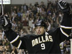 Mike Modano, reitring after 21 seasons in the NHL, leads U.S.-born players in goals and points.