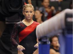 Shawn Johnson, who won a gold medal in the balance beam at the 2008 Beijing Olympics, was left off Team USA for the World Championships, which take place next month in Tokyo, due to a sprained ankle.