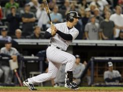 Jorge Posada's eighth-inning two-run single proved to be the difference in the Yankees' 4-2 win over the Rays Wednesday night. New York won the afternoon game by the same score.