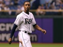 B.J. Upton got ejected in the eighth inning of the Rays' 5-1 home loss to the Blue Jays on Friday night after arguing a caught-stealing call with an umpire at second base.