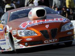 Jason Line earned the No. 1 qualifying position in the Pro Stock division at the AAA Texas NHRA Fall Nationals in Ennis, Texas.