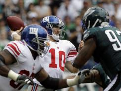 Giants QB Eli Manning carved up the Eagles vaunted secondary Sunday.