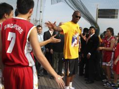 Kobe Bryant, at a clinic in Singapore this month, is being offered a $5 million deal to play in Italy during the NBA lockout.