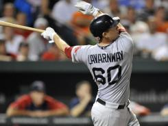 Ryan Lavarnway hit the first two home runs of his big-league career to propel the Red Sox past the Orioles.