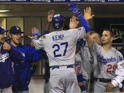 Los Angeles Dodgers outfielder Matt Kemp was one of two 30-30 players in the National League.