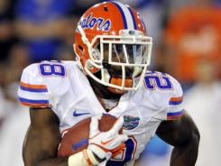 Florida Gators runing back Jeff Demps doubles as a track star for the school.